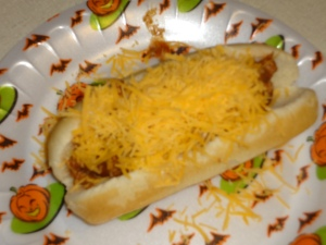 A cheese Coney