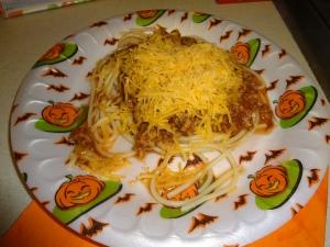 The classic Cincinnati chili 3-way