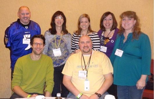 Standing:  Myself, Jill Weissberg-Benchell, Ph.D., C.D.E., Kerri Sparling, Karen Graffeo, Shannon Marengo.  Seated:  Christopher Angell and Scott Johnson