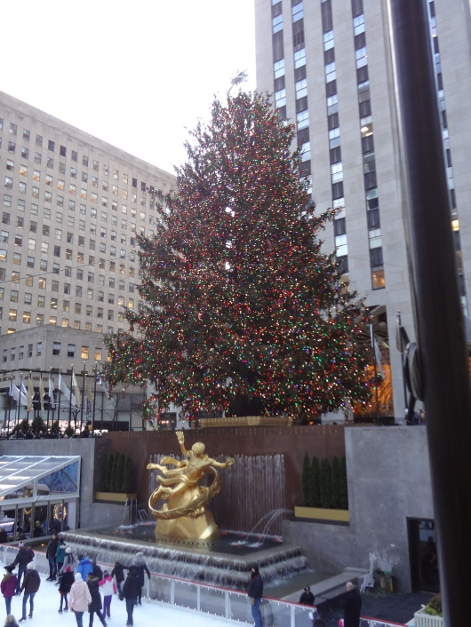 More ice skaters!  Oh, and the Rockefeller Center Christmas tree.