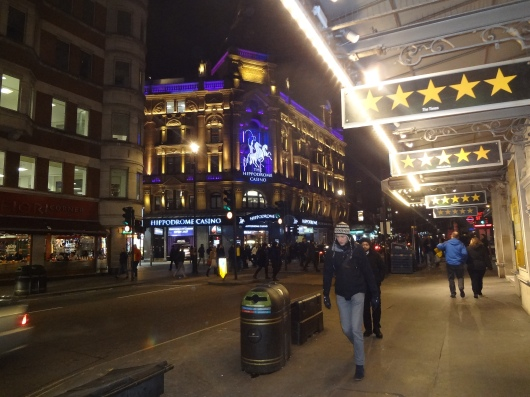 The Hippodrome Casino.  I may have gone inside.  I may have had scotch, neat.