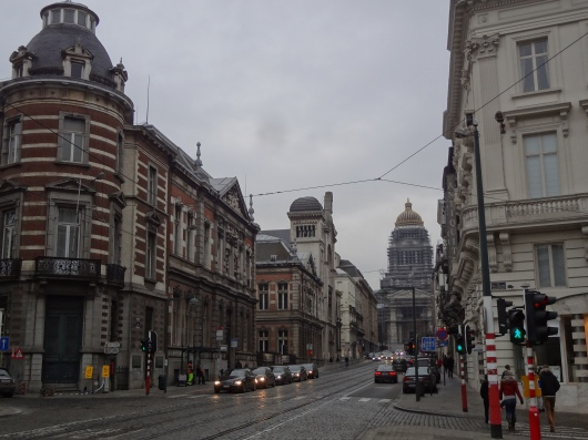 Looking down the Rue de la Regence, toward the Palais de Justice.