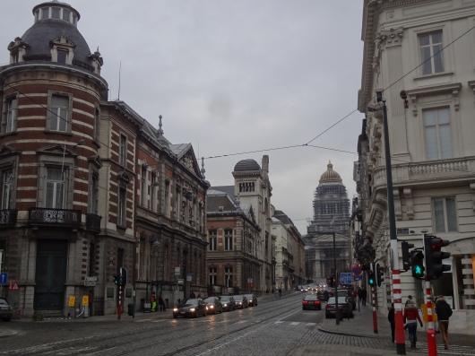 Looking down the Rue de la Regence, toward the Palais de Justice.