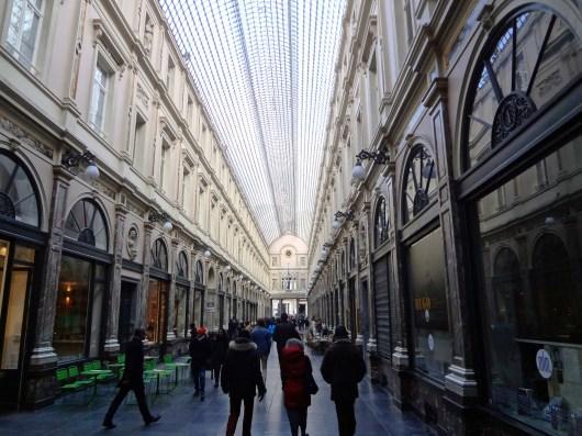 Shoppers at Les Galeries Royales Saint-Hubert.