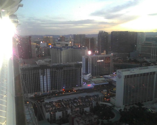 Aboard the High Roller, 500 feet above the Las Vegas strip