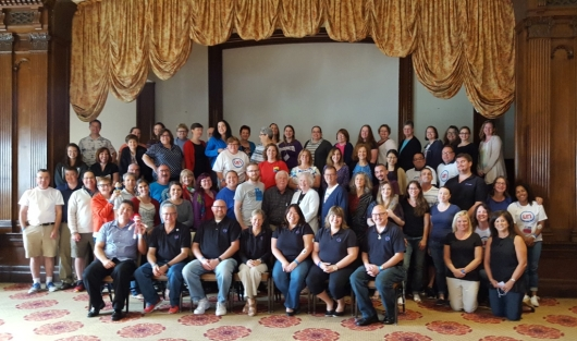 The Diabetes UnConference made its way to Atlantic City in September.  I'm wearing my Lilly 25 year medal on this day, sitting with the other facilitators in the front row.